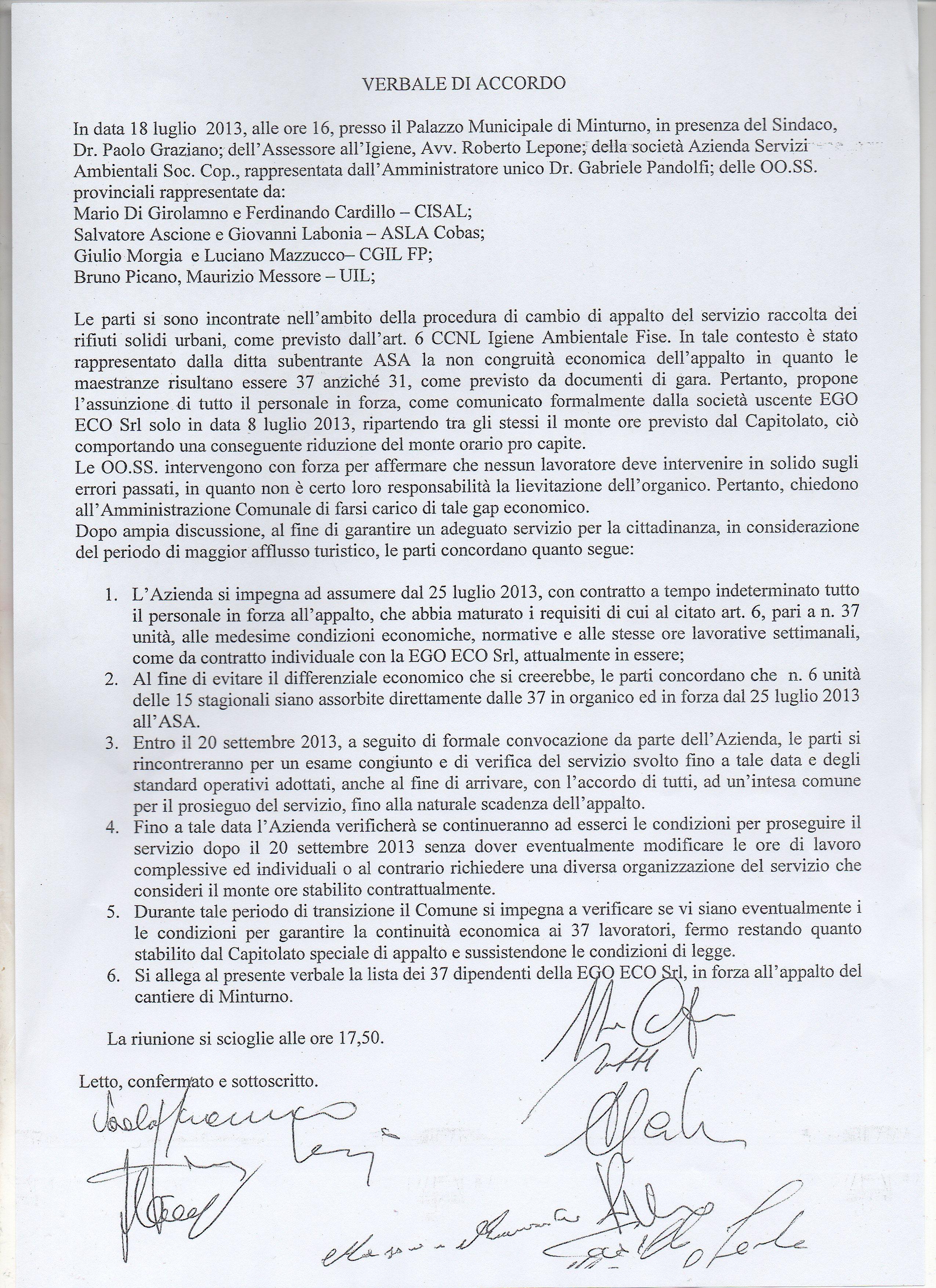 ACCORDO SINDACALE MINTURNO001