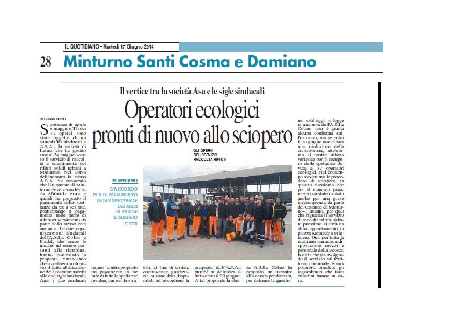 MINTURNO, OPERATORI ECOLOGICI PRONTI DI NUOVO ALLO SCIOPERO-page-001
